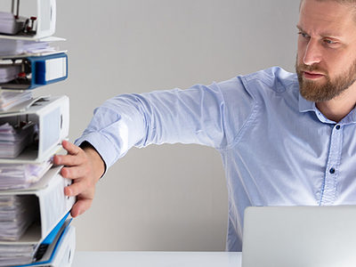 Digitalisierung, papierloses Büro, digitale Ablage